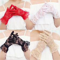 Lace Hollow Out Gloves Delicate Lace Jacquard Pattern Lace Gloves Sun Protection