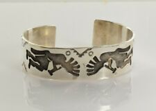 Silver Kokopelli Cuff Bracelet James Shay Navajo Sterling