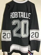 CCM Ribbed Knit LS NHL Jersey Los Angeles Kings Robitaille Black Alt sz S