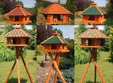 Vogelhaus Futterhaus Futterhäuschen Vogelvilla, Solar und Ständer wählbar V20