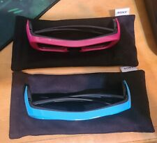 2 Sony TDG-BR250 Active 3D Glasses Blue and Pink Please Read Descriptions