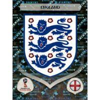 Panini WM 2018 572 England World Cup WC 18Wappen Logo Glitzer Foil