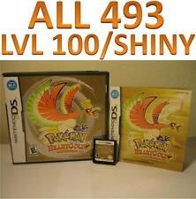 Pokemon Heart Gold Game Unlocked DS lite DSi 3DS XL 2DS HeartGold Event All 493