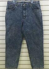 Vtg Mens 40x32 Lee Riders Jeans Tapered High Rise Waist Acid Wash Denim USA
