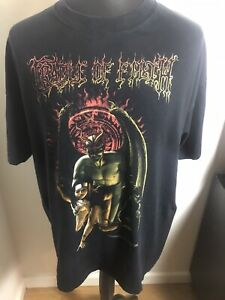 Vintage Cradle of Filth Get Behind Thee Satan Tour Shirt Size XL Rock Metal Rare