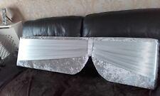 boxed window pelmets padded in silver velvet with satin sash 6ft