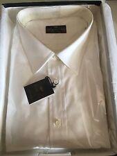 Camicia Uomo Royal Shirt Classica 100%CO Puro Makò Manica Lunga Bianco Ceremonia