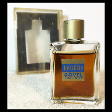 "Rare 1940s RAVEL ""PAGODA"" PERFUME in Original Box ESTATE FRESH - Smells Great!"