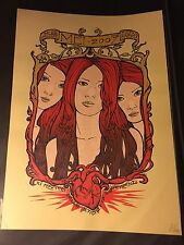 Mei 2007 Art Print Poster Mondo Malleus Sign Music Band Gig Metallics 83/181