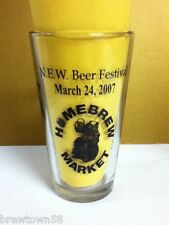 N.E.W. Beer Festival March 2007 Home Brew Market pint drink glass glasses 1 SI4