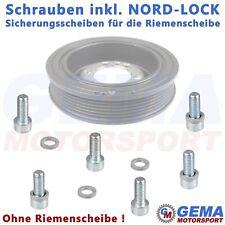 Schrauben + NORD-LOCK Sicherungsscheiben für die Riemenscheibe Opel C20XE C20LET