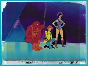 HE-MAN MASTERS of the UNIVERSE EVIL LYN CLAWFUL MOTU 1983 Animation CEL BACKG #2