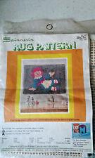 "Vintage Spinnerin Rug Pattern # 137 rag doll - Latch Hook 20x27"" New In Package"