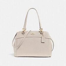 NWT Coach Large Brooke Carryall Handbag Chalk Crossgrain Leather Gold Trim