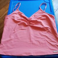 Womens Elle Coral Lycra Strappy Top Size Large UK 14 Euro 40