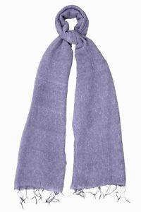 "Manumit Fair Trade Purple Textured Silk Cotton Scarf 70"" Long 26"" Wide G611"