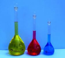 VOLUMETRIC FLASK SET 250, 500 & 1000 mL