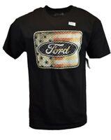 REALTREE Men T Shirt L XL XXL American Ford Logo Hunting Deer Camo Tee Black NEW