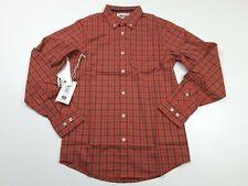 Mountain Khakis Men's Uptown Tattersall Long Sleeve Shirt Redwood Size S