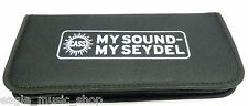 Seydel New Larger Size Harmonica Case Black Nylon Holds 14 Diatonic Harmonicas