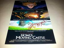 """HOWL'S MOVING CASTLE PP SIGNED 12""""X8"""" POSTER HAYAO MIYAZAKI"""