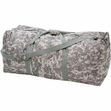 """Large 39"""" Camo Duffle Bag, Mens Army Carry-On Overnight Luggage Travel Camp Tote"""