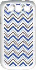 Chevron Multi Blue Designed Samsung Galaxy S3 Case Cover