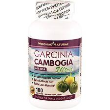 Garcinia Cambogia Ultra 60% HCA 180 Caps 1000mg w/ Potassium Chromium Calcium