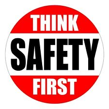 Think Safety First Hard Hat Decal / Label / Helmet Sticker USA Foreman Laborer