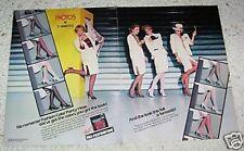 1985 print ad -No Nonsense Fashion Color Pantyhose girl legs vintage Advertising