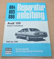AUDI 100 Typ 44 70ps 87ps Turbo-Diesel 1983 - 1986 Reparaturanleitung B884