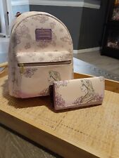 Rapunzel Loungefly Hot Topic Exclusive mini backpack and matching wallet NWT
