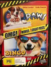Paws (1997) / Bingo (1991) region 4 DVD (kids / family comedy movies) RARE