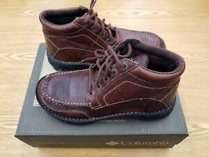 Columbia Men's Wayne Leather Mid Oxford Shoe BM-2448 Size 7.5