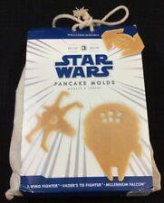 Williams Sonoma 3 Star Wars Pancake Molds X Wing, Millennium Falcon, TIE Fighter