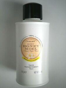 PERLIER Honey Miel Honey & Lemon Body Talcum Powder ~ 3.5 oz. / 100 g