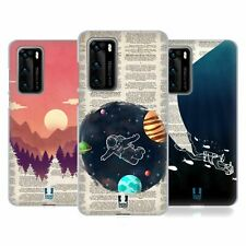 HEAD CASE DESIGNS BOOK PAGE ILLUSTRATIONS GEL CASE FOR HUAWEI PHONES