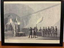 Framed engraving 30x40 cm Freemason Vrijmetselarij Master Mason 3rd Degree