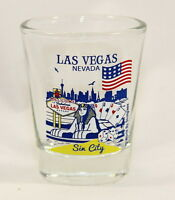 LAS VEGAS NEVADA GREAT AMERICAN CITIES COLLECTION SHOT GLASS SHOTGLASS