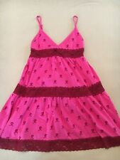 Women's Victoria's Secret Pink Lace Babydoll Pullover Cami Lingerie Size Small!