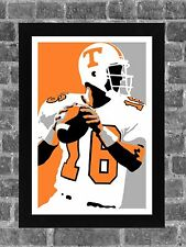 Tennessee Volunteers Peyton Manning Portrait Sports Print Art 11x17