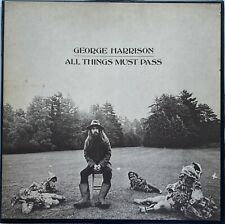 Original Looking Pressing GEORGE HARRISON All Things Must Pass with Poster - M-