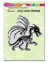 Stampendous Cling Dragon Skeleton Rubber Stamp **FREE P&P**