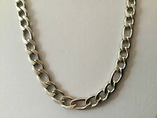 """Mens 60cm x 9mm Stainless Steel Necklace Silver Curb Link Chain Figaro 24"""" N107"""