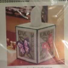 Mary Maxim - Butterfly Tissue Box Cover Plastic Canvas Kit