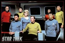 Star Trek- Cast Poster 36 x 24in Unframed Free shipping