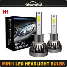 1Pair H1 LED Headlight Kit Auto Car 100W 10800LM DRL Headlamp High Power Bulbs