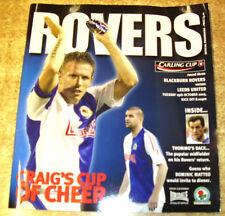 League Cup Teams A-B Football Programmes with Match Ticket