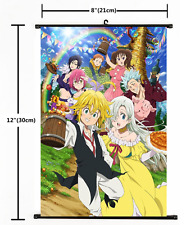 Nanatsu no Taizai The Seven Deadly Sins Poster Scroll Home Decor Cosplay 2506