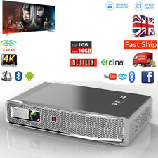 8500 Lumens DLP Wifi 3D 4K Home Theater Projector HD 1080P Cinema HDMI/USB/RJ45